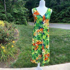 Jams World Tropical Hawaiian Sleeveless Dress
